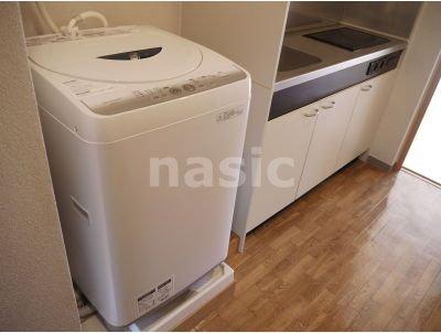 備え付け洗濯機